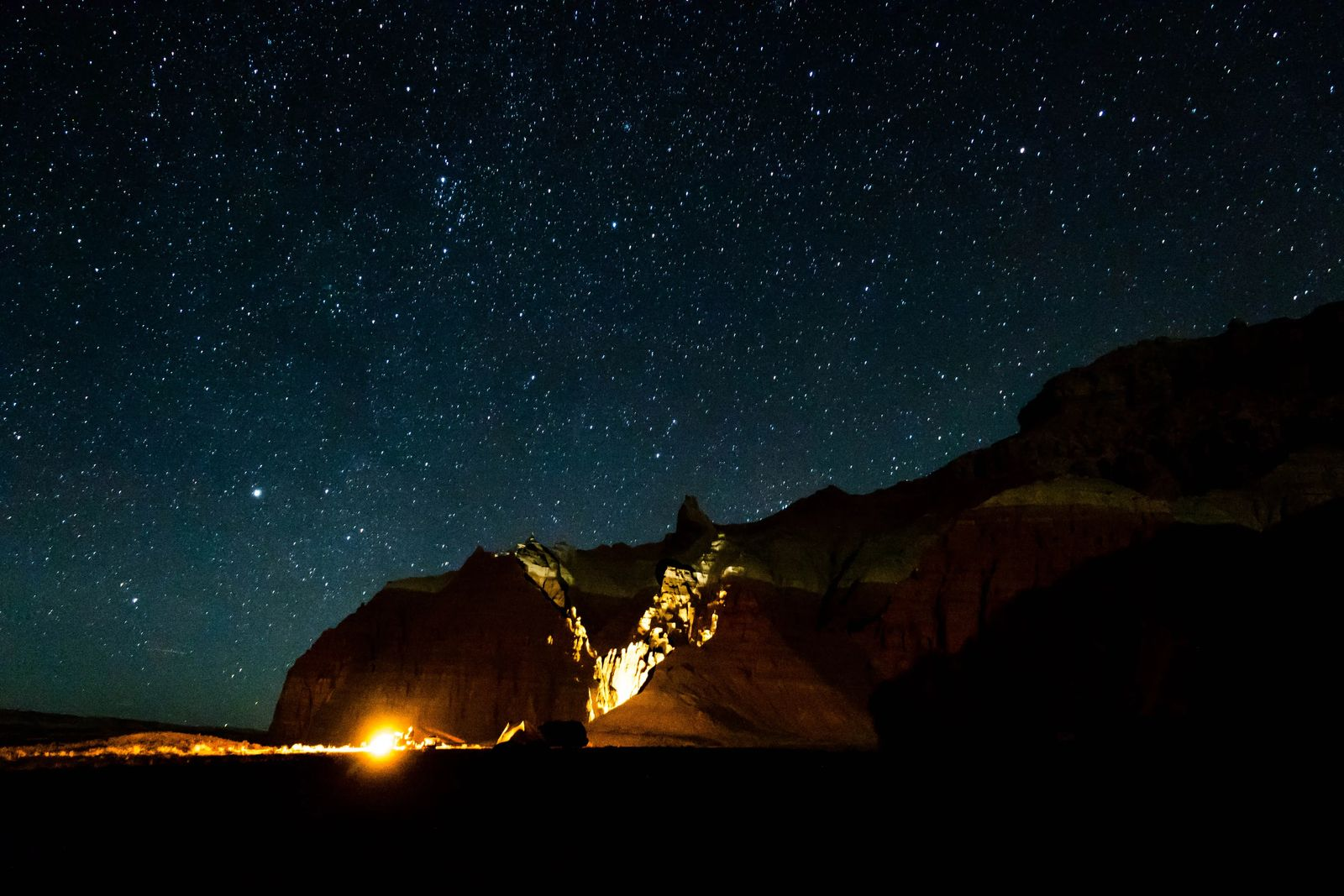 campfire with stars, rules of camping in utah