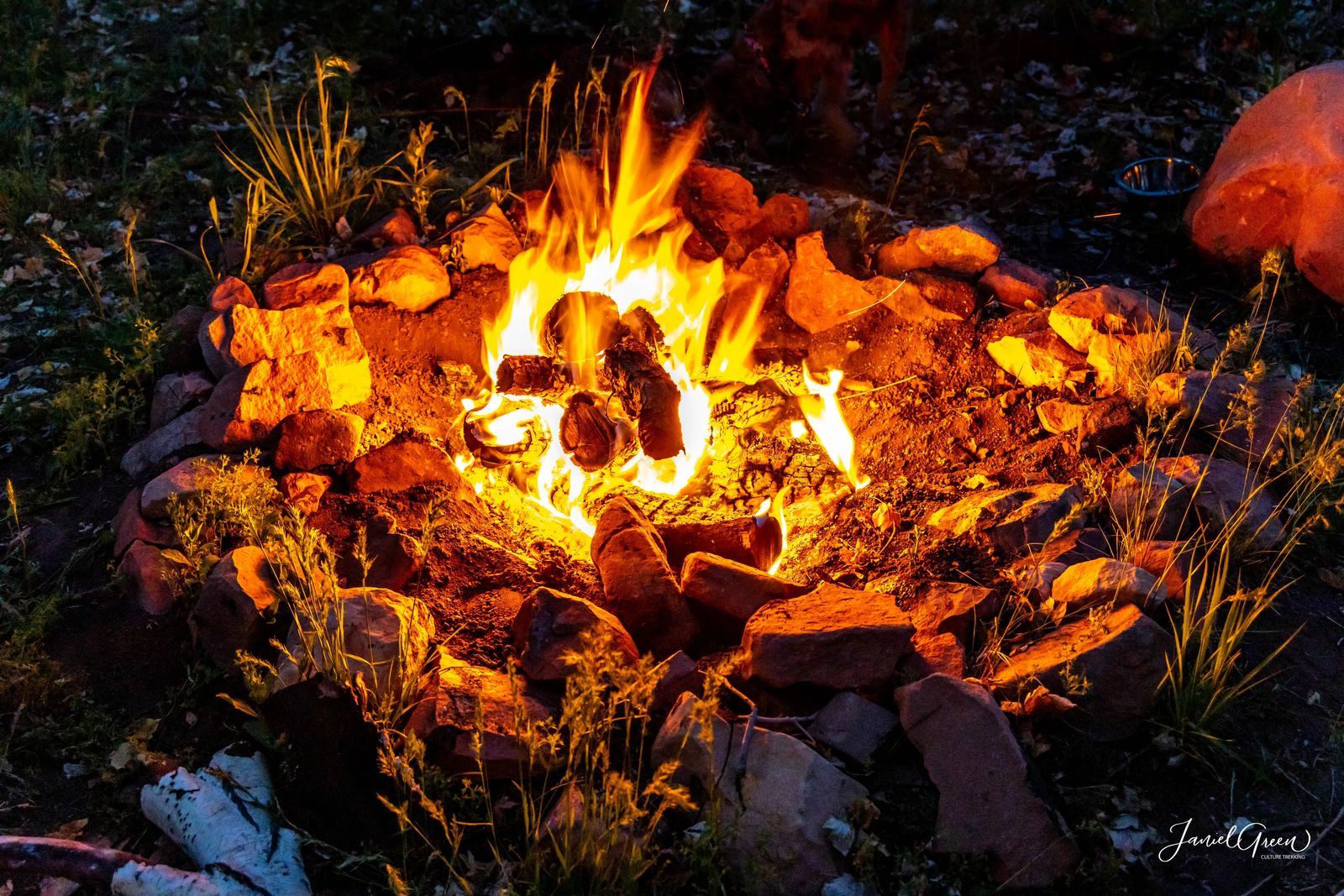 beautiful contrasting campfire, rules of camping in utah