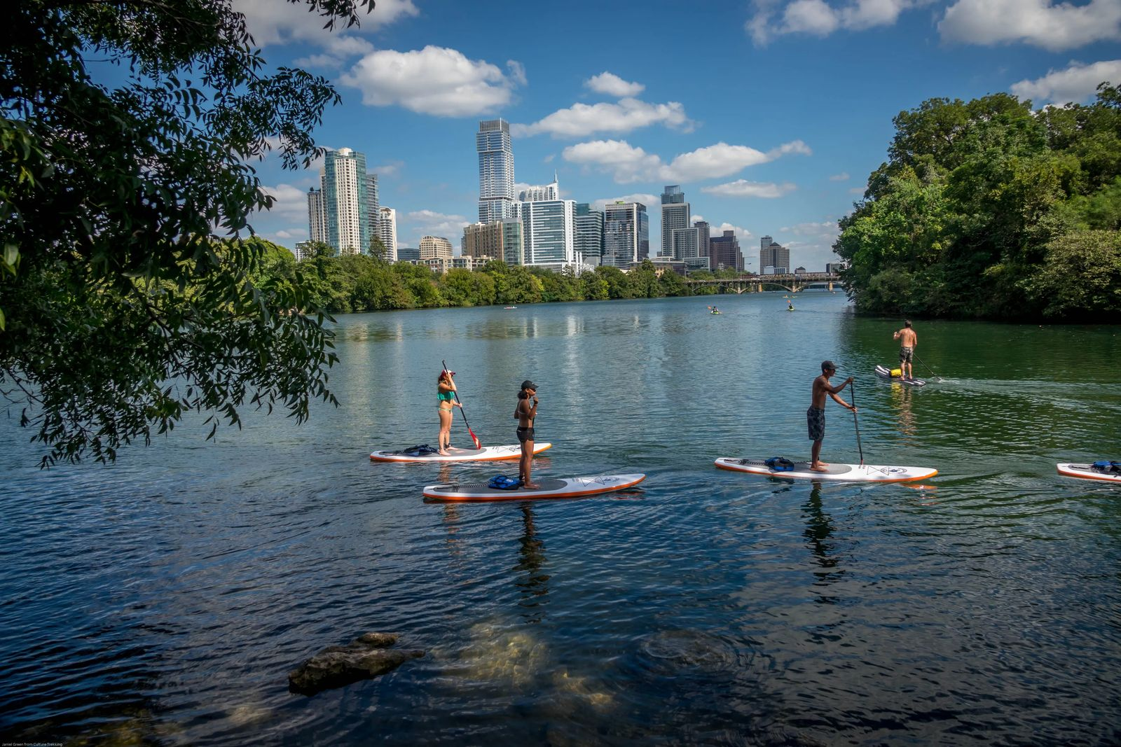 Austin Skyline and SUP - Unique things to do in Austin Texas - Culture Trekking - #AustinTexas #uniquethingstodoinaustin #Keepaustinweird