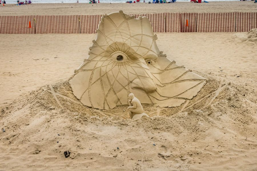 New England Coast Tour Sand Art Competition at Hampton Beach