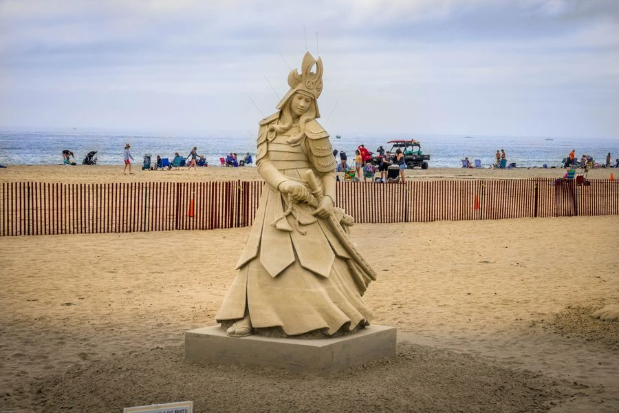 New England Coast Tour Sand Art Competition in New Hampshire