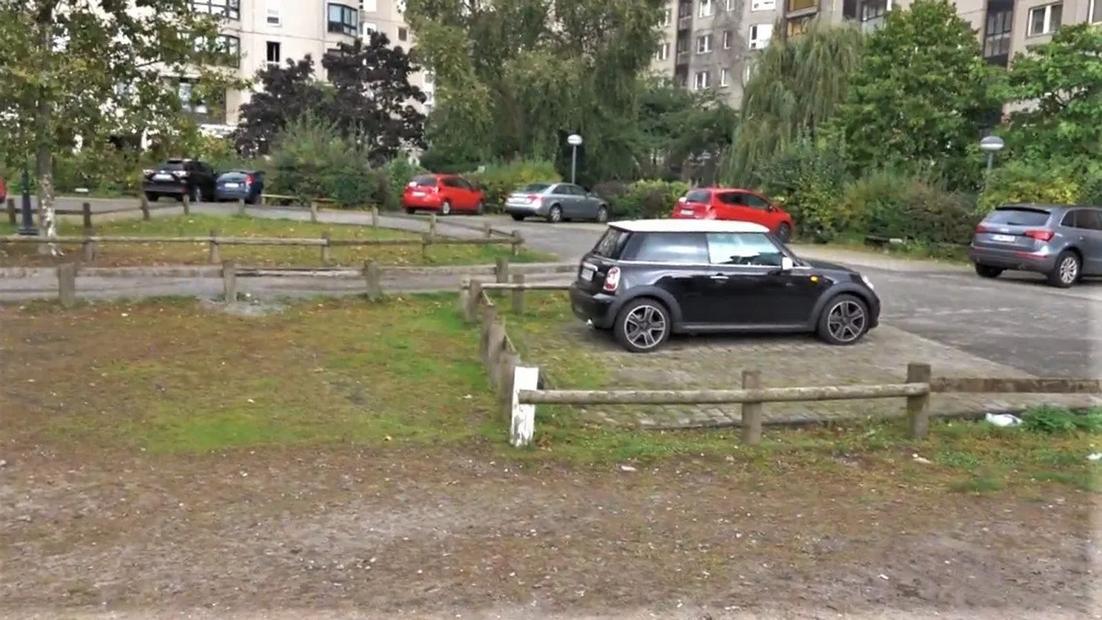 backpacking Eastern Europe 12 hours in berlin and what to see. A picture of a parking lot, where Hitlers Bunker once was